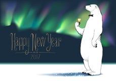 Tarjeta de felicitación del vector de la Feliz Año Nuevo 2017 Fotos de archivo libres de regalías