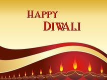 Tarjeta de felicitación del vector para el diwali Imagen de archivo