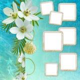 Tarjeta de felicitación del verano Imagen de archivo libre de regalías