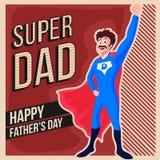 Tarjeta de felicitación del vintage para la celebración del día de padre stock de ilustración