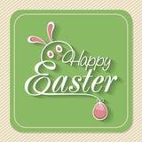 Tarjeta de felicitación del vintage para la celebración feliz de Pascua Imagenes de archivo