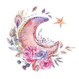 Tarjeta de felicitación del vintage del Ramadán de la acuarela libre illustration