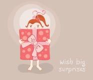 Tarjeta de felicitación divertida Fotos de archivo libres de regalías