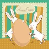Tarjeta de felicitación divertida de Pascua stock de ilustración