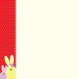 Tarjeta del conejito de pascua stock de ilustración