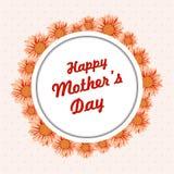 Tarjeta de felicitación el día de madres stock de ilustración