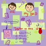 Tarjeta de felicitación el el día de padre Imágenes de archivo libres de regalías