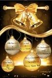 Tarjeta de felicitación elegante de la Feliz Año Nuevo 2016 Imagen de archivo