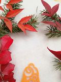 Tarjeta de felicitación elegante para las vacaciones de invierno foto de archivo libre de regalías
