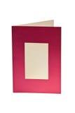 Tarjeta de felicitación en blanco aislada con la ventana Imagenes de archivo