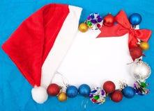 Tarjeta de felicitación en blanco de la Navidad Imagen de archivo libre de regalías