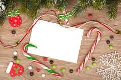 Tarjeta de felicitación en blanco de la Navidad Foto de archivo libre de regalías