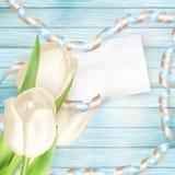 Tarjeta de felicitación en blanco EPS 10 Fotografía de archivo
