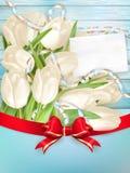 Tarjeta de felicitación en blanco EPS 10 Fotos de archivo