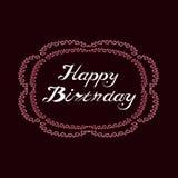 Tarjeta de felicitación en cumpleaños del estilo del vintage feliz Foto de archivo libre de regalías