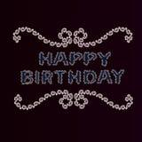 Tarjeta de felicitación en estilo del vintage con feliz cumpleaños Imagen de archivo