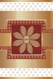 Tarjeta de felicitación en mirada tradicional Fotos de archivo libres de regalías