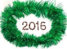Tarjeta de felicitación enmarcada malla del Año Nuevo Foto de archivo libre de regalías