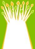Tarjeta de felicitación estilizada del árbol Imagen de archivo libre de regalías