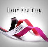 Tarjeta de felicitación - Feliz Año Nuevo 2016 Foto de archivo