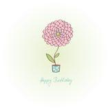 Tarjeta de felicitación - feliz cumpleaños Imagen de archivo libre de regalías