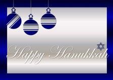 Tarjeta de felicitación feliz de Hanukkah Fotos de archivo