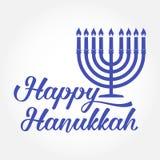 Tarjeta de felicitación feliz de Hanukkah Diseño de la tipografía