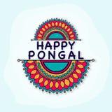 Tarjeta de felicitación feliz de la celebración de Pongal Imagenes de archivo