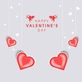 Tarjeta de felicitación feliz de la celebración del día de tarjeta del día de San Valentín Foto de archivo libre de regalías