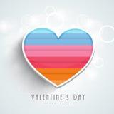 Tarjeta de felicitación feliz de la celebración del día de tarjeta del día de San Valentín Foto de archivo