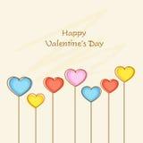 Tarjeta de felicitación feliz de la celebración del día de tarjeta del día de San Valentín Fotos de archivo libres de regalías