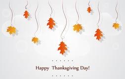 Tarjeta de felicitación feliz de las celebraciones del día de la acción de gracias Imagen de archivo libre de regalías