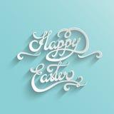 Tarjeta de felicitación feliz de las letras de Pascua libre illustration