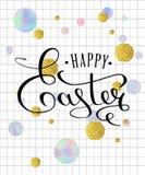 Tarjeta de felicitación feliz de las letras de Pascua Imagen de archivo