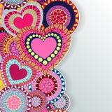 Tarjeta de felicitación feliz de las letras del día de la tarjeta del día de San Valentín encendido Foto de archivo