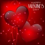 Tarjeta de felicitación feliz de las letras del día de la tarjeta del día de San Valentín encendido Fotos de archivo libres de regalías