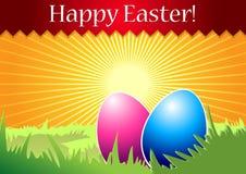 Tarjeta de felicitación feliz de Pascua. stock de ilustración