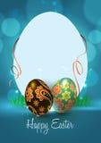 Tarjeta de felicitación feliz de Pascua Foto de archivo libre de regalías