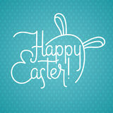Tarjeta de felicitación feliz de Pascua stock de ilustración