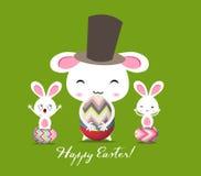Tarjeta de felicitación feliz de Pascua Fotografía de archivo
