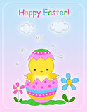 Tarjeta de felicitación feliz de Pascua Fotos de archivo