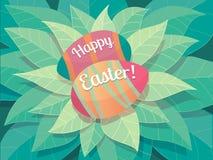 Tarjeta de felicitación feliz de Pascua Imagen de archivo