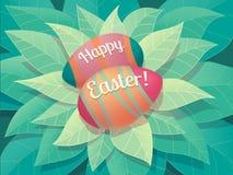 Tarjeta de felicitación feliz de Pascua Foto de archivo