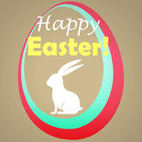 Tarjeta de felicitación feliz de Pascua Imagen de archivo libre de regalías