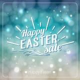 Tarjeta de felicitación feliz de Pascua Etiqueta dibujada mano del diseño de letras encendido Fotografía de archivo libre de regalías