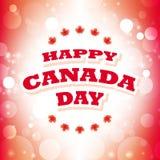 Tarjeta de felicitación feliz del día de Canadá Imágenes de archivo libres de regalías