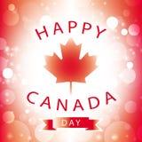 Tarjeta de felicitación feliz del día de Canadá Imagen de archivo