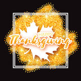 Tarjeta de felicitación feliz del día de la acción de gracias Imagen de archivo libre de regalías