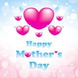 Tarjeta de felicitación feliz del día de madres Imagen de archivo libre de regalías