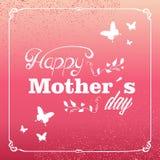 Tarjeta de felicitación feliz del día de madres del vintage Foto de archivo libre de regalías